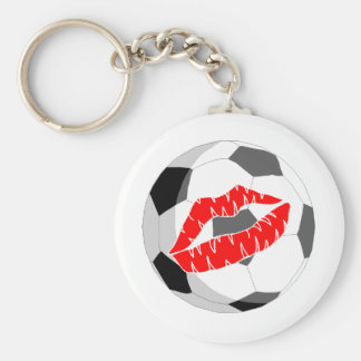 Soccer KIss (Red) Keychain