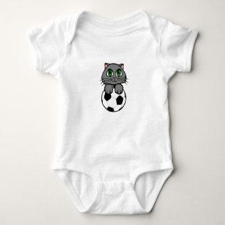 Soccer Kitten Baby Bodysuit