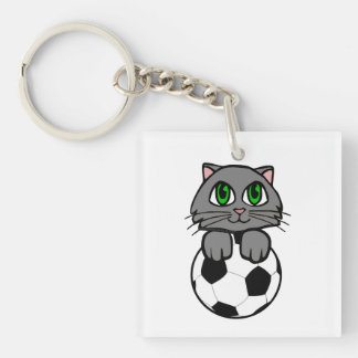 Soccer Kitten Keychain