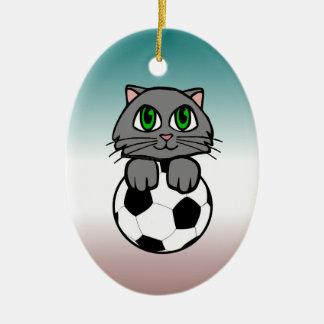 Soccer Kitten Ornament