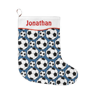 Soccer Large Christmas Stocking
