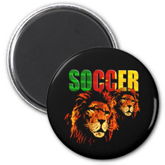 Soccer Les Lions football fans gifts 2 Inch Round Magnet