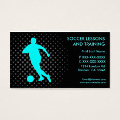 Soccer Lessons Training Custom Business Cards at Zazzle