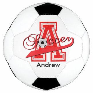 Soccer Letter A Word Art | DIY Name | Red Soccer Ball
