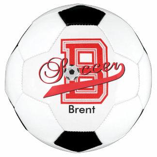 Soccer Letter B Word Art | DIY Name | Red Soccer Ball