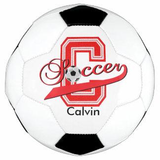 Soccer Letter C Word Art | DIY Name | Red Soccer Ball