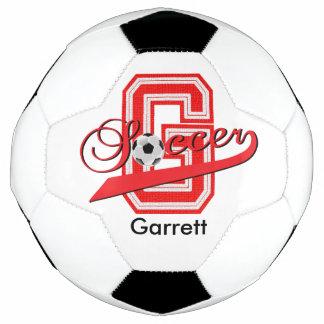 Soccer Letter G Word Art | DIY Name | Red Soccer Ball