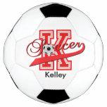 Soccer Letter K Word Art | DIY Name | Red Soccer Ball