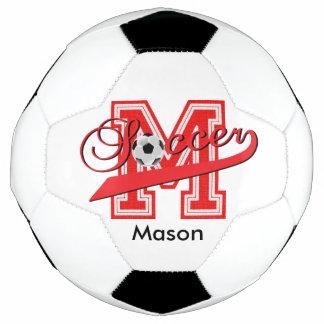 Soccer Letter M Word Art | DIY Name | Red Soccer Ball