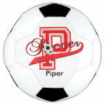 Soccer Letter P Word Art | DIY Name | Red Soccer Ball