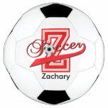 Soccer Letter Z Word Art | DIY Name | Red Soccer Ball