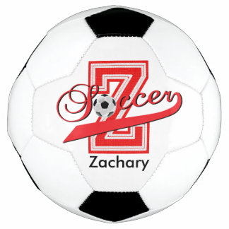 Soccer Letter Z Word Art | DIY Name | Red Soccer Ball