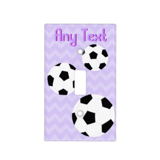 Soccer Light Switch Cover: Purple Chevron Light Switch Cover