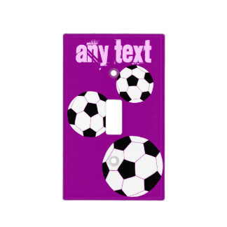Soccer Light Switch Cover: Purple Personalized Light Switch Cover