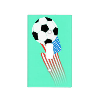 Soccer Light Switch Cover: Turquoise Soccer