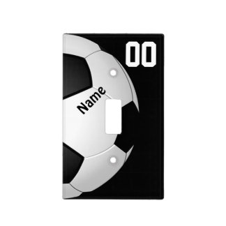 Soccer Light Switch Cover, Your NAME and NUMBER