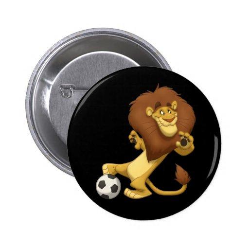 Soccer Lion Button