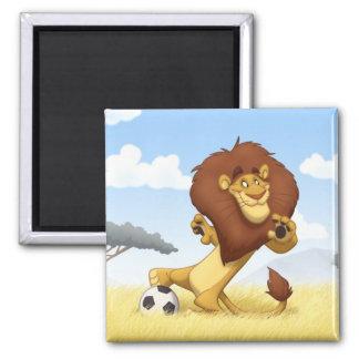 Soccer Lion Magnet