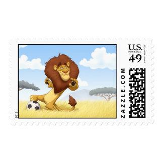 Soccer Lion Stamps