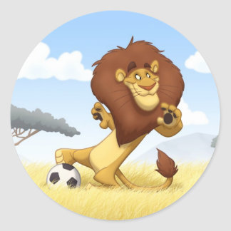 Soccer Lion Stickers