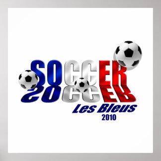 Soccer Logo Les Bleus flag of France 2010 gifts Poster