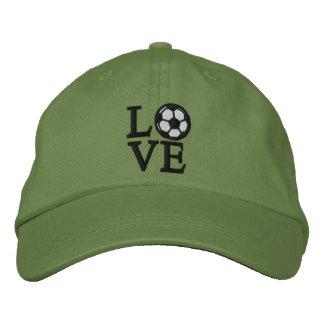 Soccer Love Embroidered Baseball Hat