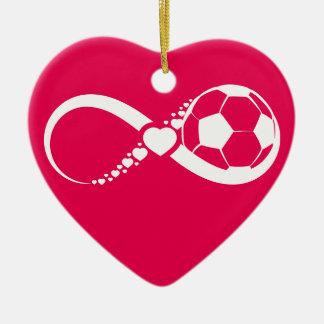 Soccer Love Infinity Heart Ornament