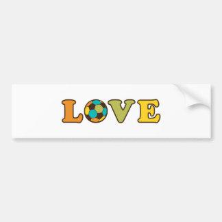 Soccer Love Sport Bumper Sticker