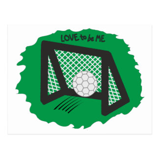 SOCCER - LOVE TO BE ME POSTCARD