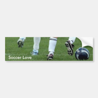 Soccer Love Your Message Bumper Sticker