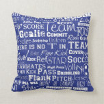 Soccer Lovers Throw Pillow