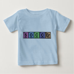 Baby Fine Jersey T-Shirt with Soccer design