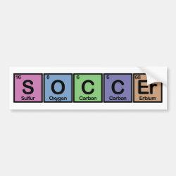 Bumper Sticker with Soccer design