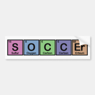 Soccer made of Elements colors Bumper Sticker