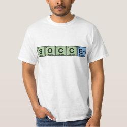 Men's Crew Value T-Shirt with Soccer design