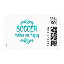 Soccer Makes Me Happy Postage