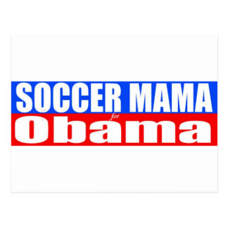 Soccer Mama for Obama Postcard