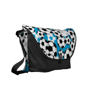 Soccer Mania Color Option Messenger Bags