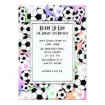 Soccer Mania/ Color Personalized Invitation