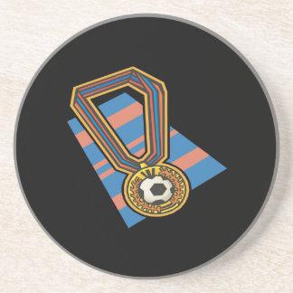 Soccer Medal Beverage Coaster