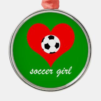 soccer metal ornament