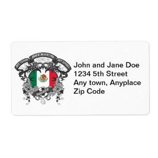 Soccer Mexico Label