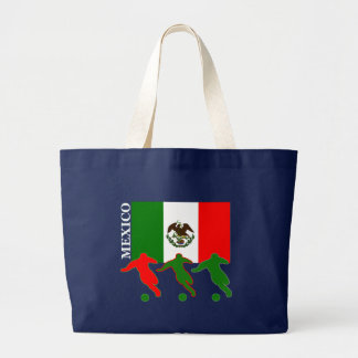 Soccer Mexico Large Tote Bag
