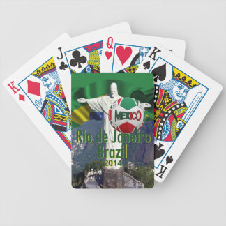 Soccer Mexico Rio  Brazil Bicycle Playing Cards