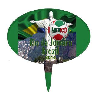 Soccer Mexico Rio Brazil Cake Topper