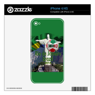 Soccer Mexico Rio Brazil Decal For The iPhone 4