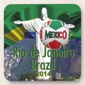 Soccer Mexico Rio Brazil Drink Coaster