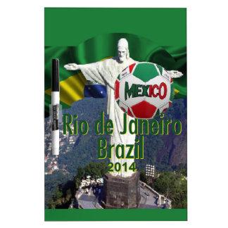 Soccer Mexico Rio Brazil Dry Erase White Board
