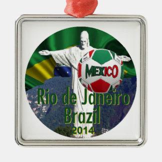 Soccer Mexico Rio Brazil Metal Ornament