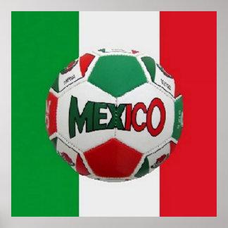 Soccer Mexico Rio Brazil Poster